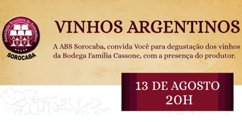 Degustação - VINHOS ARGENTINOS
